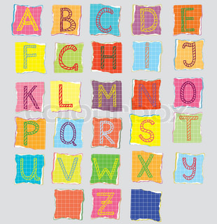 Color alphabet for children