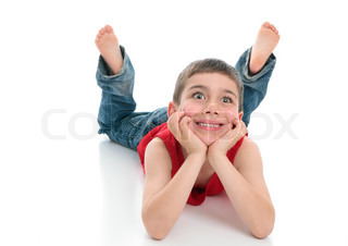 238 Young Boy Lying Stomach Studio Photos - Free & Royalty