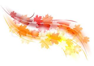 røde og orange efterår form