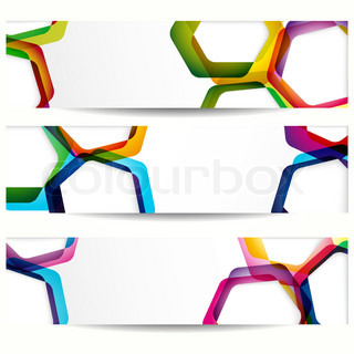 Abstract banner with forms of empty frames for your web design