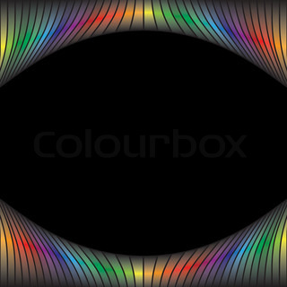 A rainbow colored abstract design borderThis vector is fully customizable