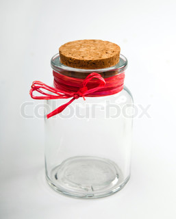 empty jar isolated on a