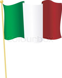 Vector illustration of the flag Italy