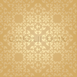 Seamless pattern, floral background, gold, vector