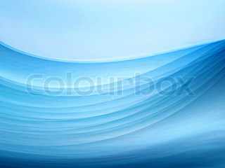 Blue blurry waves and curved lines background