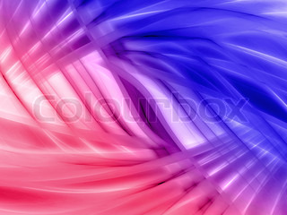 Pink and blue blurry waves and curved lines background