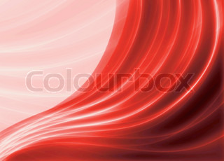 Red blurry waves and curved lines background