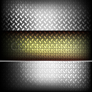 Fluted metal texture Vector Illustration