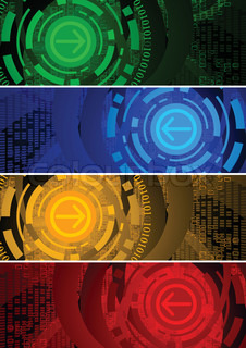 Vector abstract banners clip-art