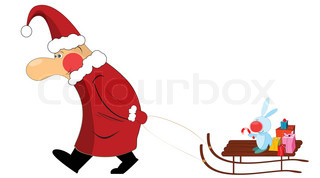 Christmas santa claus isolated on white background