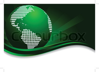 Vector green background with earth clip-art