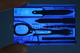 Airport control - X-ray of manicure tools