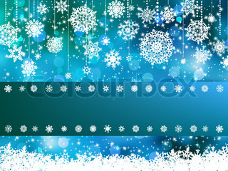 Blue bokeh of christmas lights EPS 8 vector file included