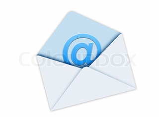 Blue Mail Envelope isolated on white background