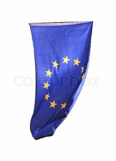Flag of Europe isolated over white background