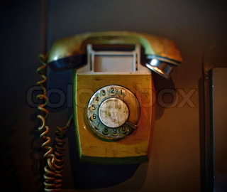 Old Rotary Dial Telephon