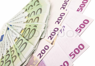uro banknotes background