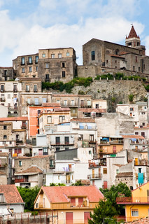 dense houses in ancient sicilian mountain town Castiglione di Sicilia