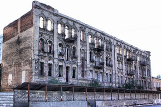 Old ruined building in Dnipropetrovsk city, Ukraine