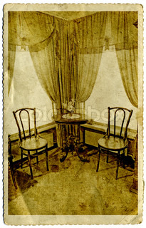 old-time interior on grunge background