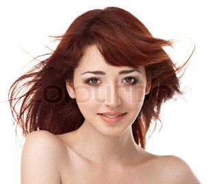 beauty woman over white background