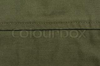 green sewing fabric
