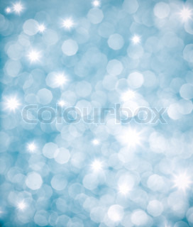 Abstract blue background or glittering lights