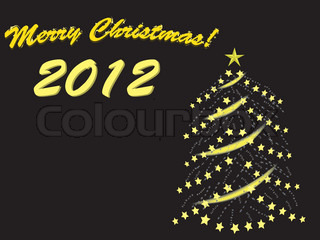 merry christmas 2012 vector illustration