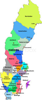 Sweden map on a white background