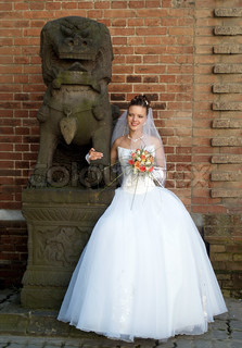 bride and guardian chinese lion