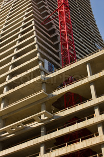 construction site of modern building - inner structure