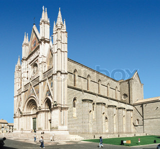 Orvieto Cathedral in Umbria (Italy) at summer time