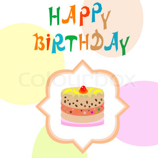 Birthday card with cupcake vector greetings card