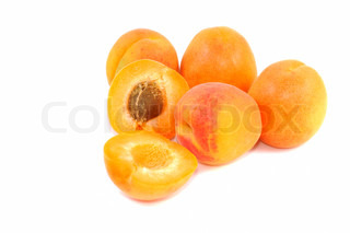Fresh apricot fruits on a