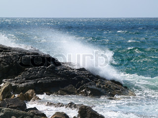 Storm wave on the rock stock photo colourbox - Impressive house with tranquil environment to get total relaxation ...