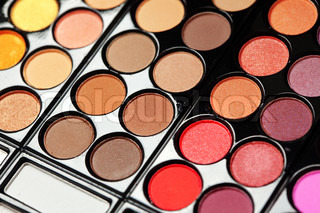 Set of professional colorful eyeshadows