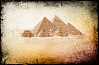 Amazing background with ancient Egyptian pyramids
