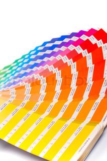 color guide closeup on white