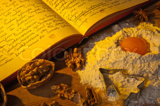 an old, hand-written cook book with recipes old recipes