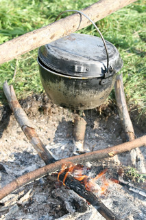 kettle over fire