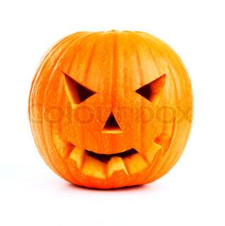 Halloween græskar isoleret på hvidt