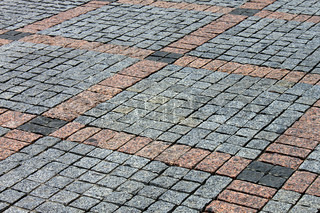 tiled pavement of square