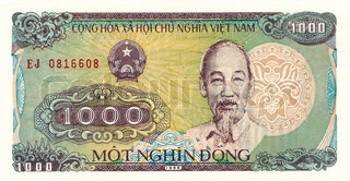 1000 Dong bill of Vietnam 1988, obverse