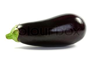 fresh eggplant aubergine over a white background