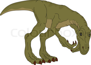 vector - dinosaur isolated on background