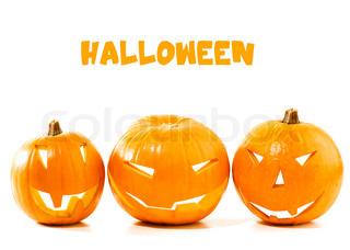 Halloween græskar grænsen isoleret på hvid baggrund , traditionelle spooky jack- o- lanterne , amerikansk efterårsferien