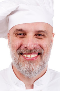 Portrait of a happy chef in a chef's hat
