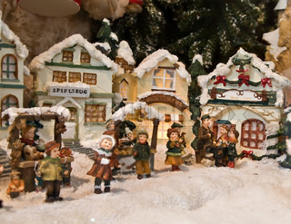 Christmas decoration (small houses, covered by snow)