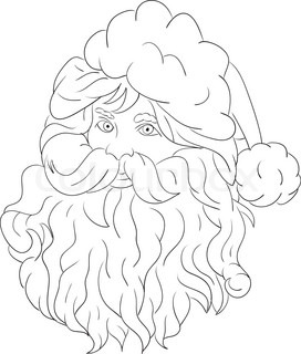 vector - head santa claus isolated on background