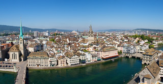 Aerial view of Zurich (Switzerland)